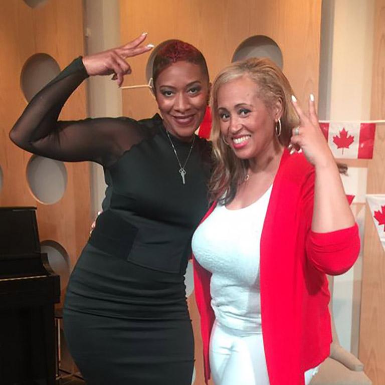 Natalie Wilson with Nikki Clarke